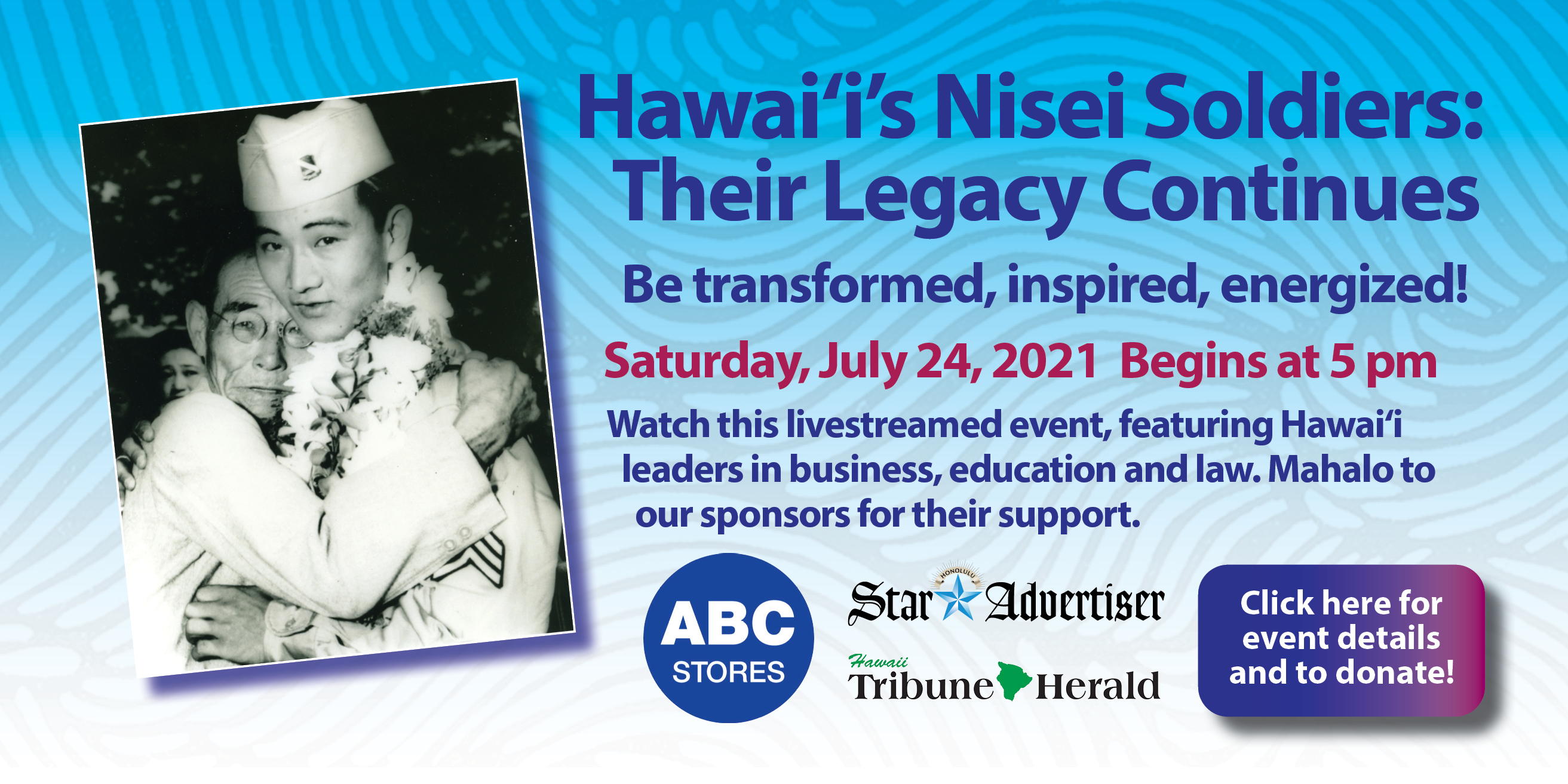 Banner image with link to Hawai'i's Nisei Soldiers: Their Legacy Continuescontent