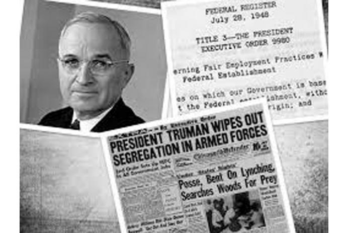 President Truman end segregation in the military