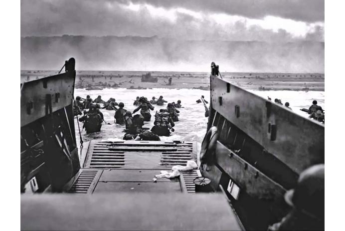 D-Day — going ashore at Normandy