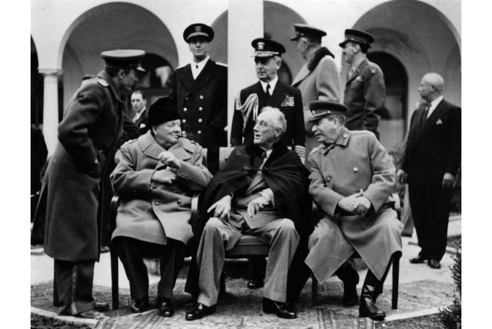 Churchill, Roosevelt, and Stalin at Yalta