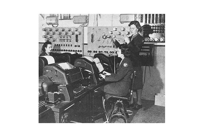WACs operating teletype communications