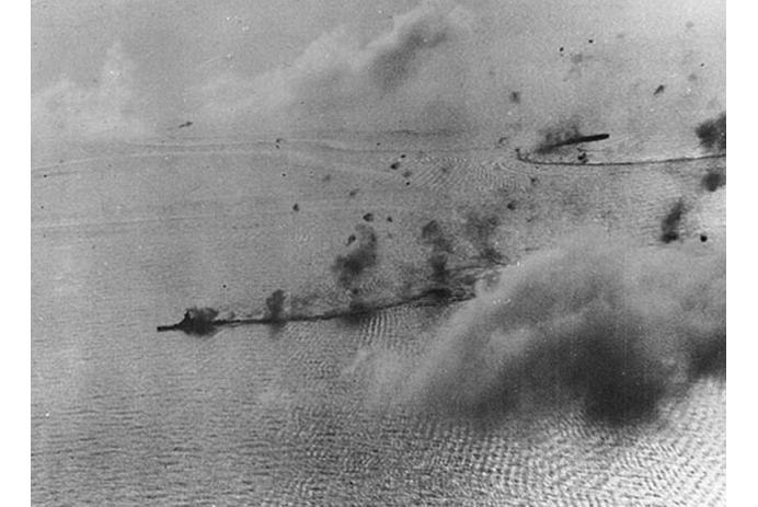 Japanse battle fleet under attack