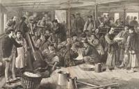Chinese emmigrants aboard ship