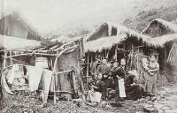 Primitive huts — hard living