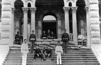 Soldiers guarding Iolani Palace