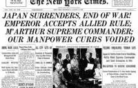 WWII ends with Japan surrender