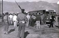 Japanese American families depart for internment camp