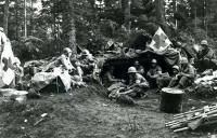 442nd Aid Station in the Vosges Mts