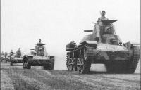 "Type 2595 ""Ha-Go"" tanks of Japan's Kwantung Army in Manchuria"