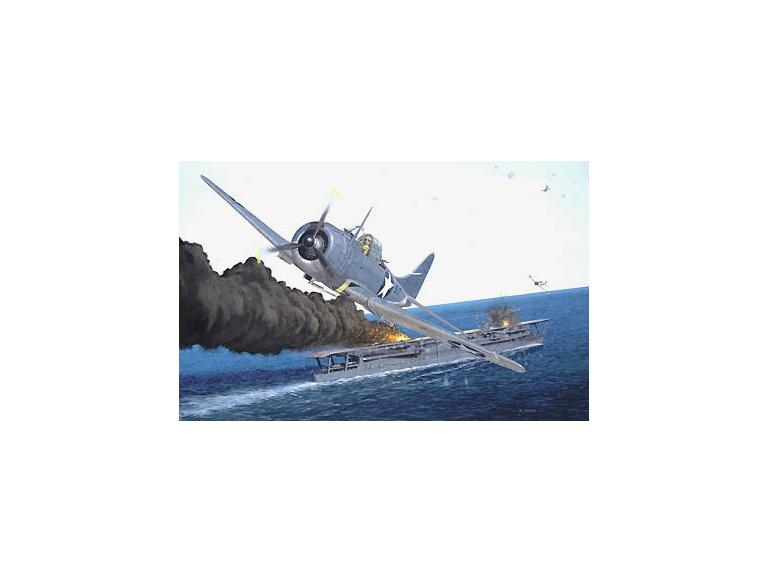 Dauntless dive-bombers attack at Midway