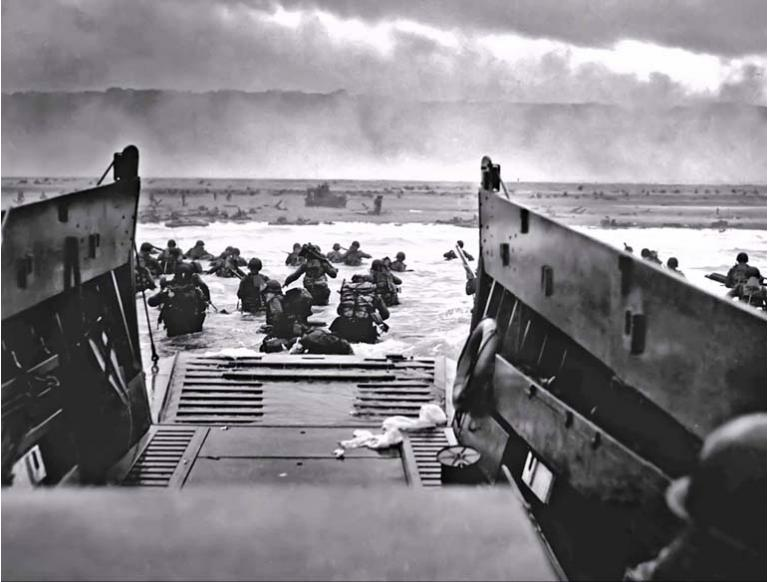 D-Day - going ashore at Normandy