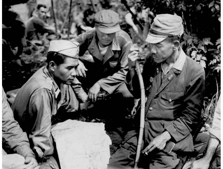 MIS discussing surrender terms with Japanese Lt General