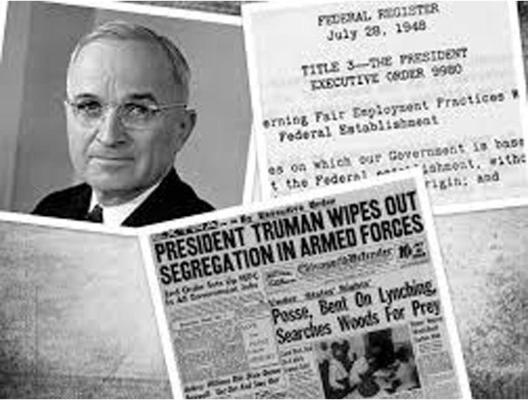 President Truman orders desegregation of US Armed Forces